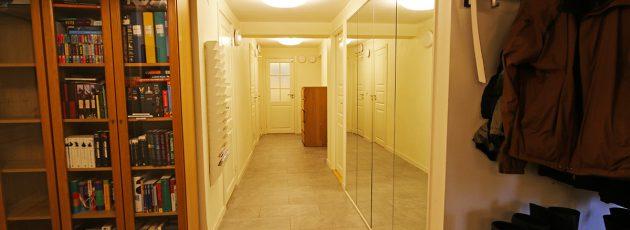 Lower floor hallway