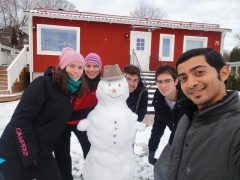Building a snowman together